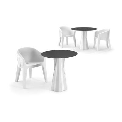 """Set tavolo e sedie """"Frozen""""_arredo bar in polietilene_R.G.Manifatture"""