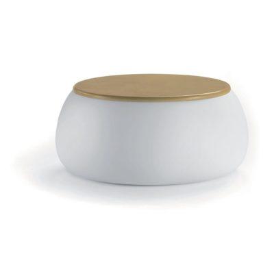 T-ball tavolino contenitore_arredo in polietilene e legno_R.G.Manifatture