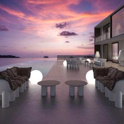 Set arredo in polietilene Atene_arredo indoor/outdoor_R.G.Manifatture_vendita online