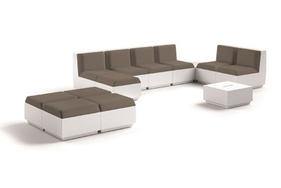Set divano Big Cut_arredo outdoor/indoor in polietilene luminoso_R.G.Manifatture_vendita online