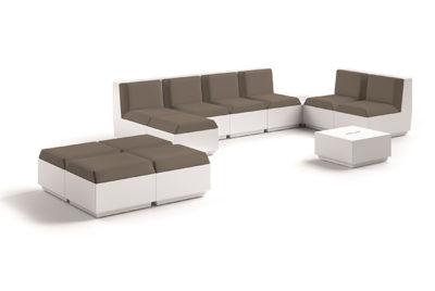 Set divano Big Cut_arredo outdoor/indoor in polietilene luminoso_R.G.Manifatture_vendita online