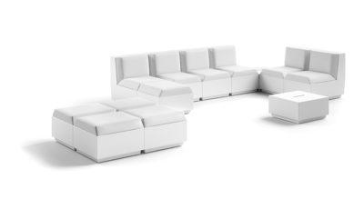 Poltrona modulare Big Cut_arredo in polietilene con cuscino per esterni_R.G.Manifatture_vendita online