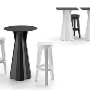 Frozen tavolino alto_arredo bar in polietilene_R.G.Manifatture