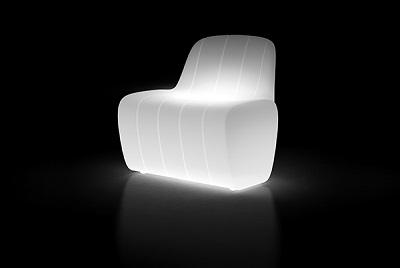 Seduta modulare Jetlag_arredo luminoso in polietilene_R.G.Manifatture