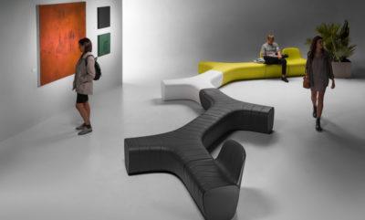 Panca modulare Jetlag_arredo indoor in polietilene_R.G.Manifatture
