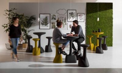 Set sgabello e tavolino armillaria_arredo bar in polietilene_R.G.Manifatture_vendita online