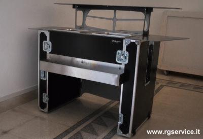 Workstation Trolley bar_bancone bar_valigia trasportabile_personalizzabile_R.G.Manifatture_noleggio