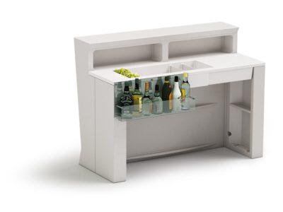 """Marvy"" bancone bar con tasca portabottiglie_Arredo bar in polietilene_Extra Ordinary Bar"