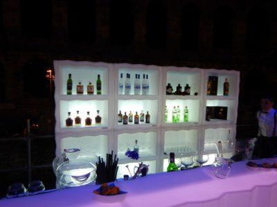 Display portabottiglie_Arredo bar in polietilene luminoso_R.G.Manifatture_vendita online