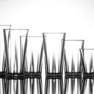 Bicchieri Pentagonali in policarbonato_bicchieri infrangibili_R.G.Manifatture