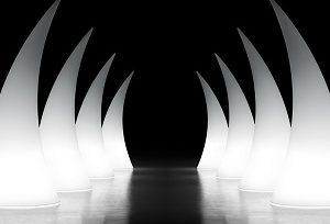 Horn struttura luminosa_arredo in polietilene_R.G.Manifatture