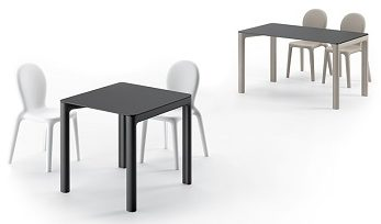 Set sedia Chloé con tavolo Planet_arredo in polietilene_R.G.Manifatture