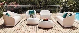 Set divano e poltrona Settembre_arredo in polietilene_indoor e outdoor_R.G.Manifatture