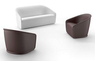Set poltrona e divano Settembre_arredo in polietilene_indoor e outdoor_R.G.Manifatture
