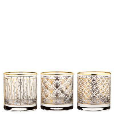 Bicchieri con decorazioni in oro