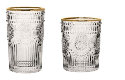 Bicchieri con bordo dorato