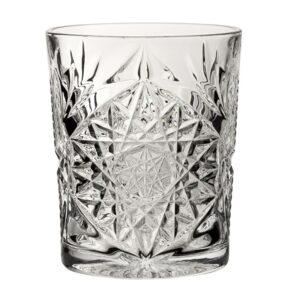 Bicchieri rock in vetro tumbler basso interamente lavorato