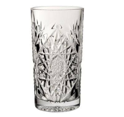 Bicchieri rock in vetro sfaccettato modello tumbler alto