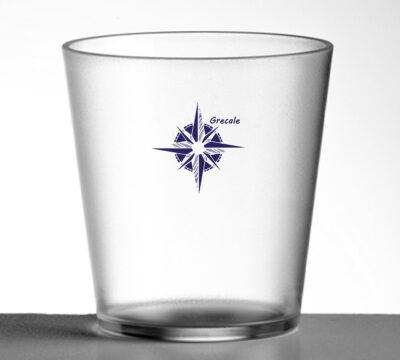 set di bicchieri riutilizzabili con loghi diversi