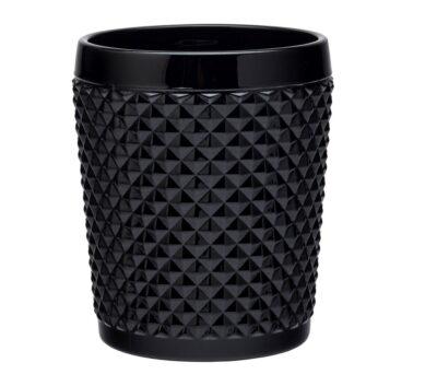 Bicchieri in vetro neri tumbler basso da 350cc