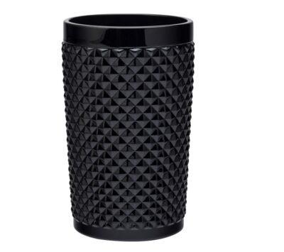 Bicchieri modello tumbler in vetro neri