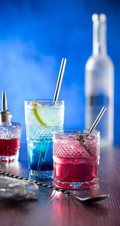 Bicchieri da cocktail in vetro